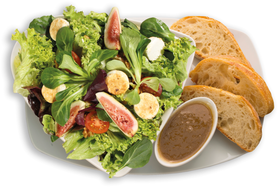 Salat Wildkräuter-Ziegenkäse