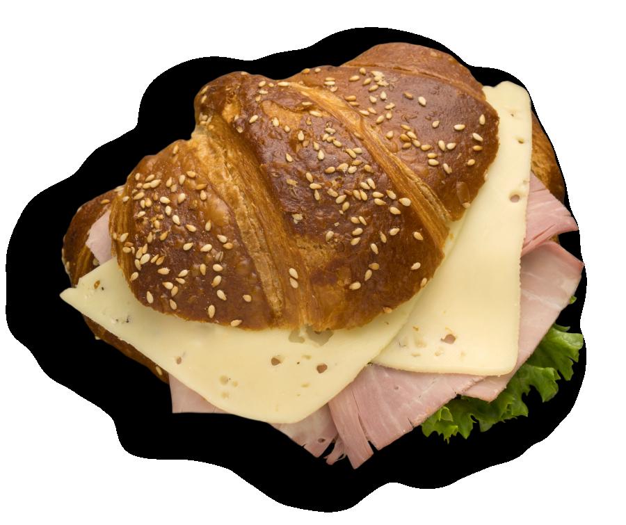 Laugencroissant mt Wurst-Käse
