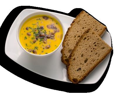 Kürbis-Kokos-Currysuppe