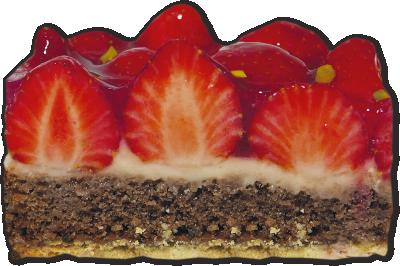 Erdbeer-Spitzenschnitte